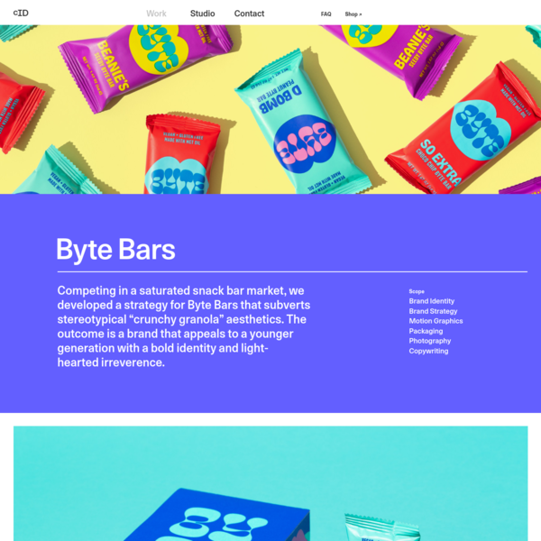 Byte Bars * Cast Iron Design * Sustainable Graphic Design & Branding