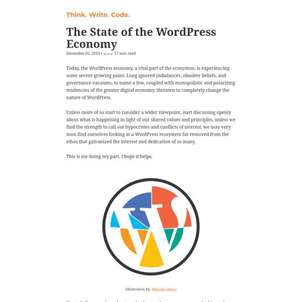 The State of the WordPress Economy