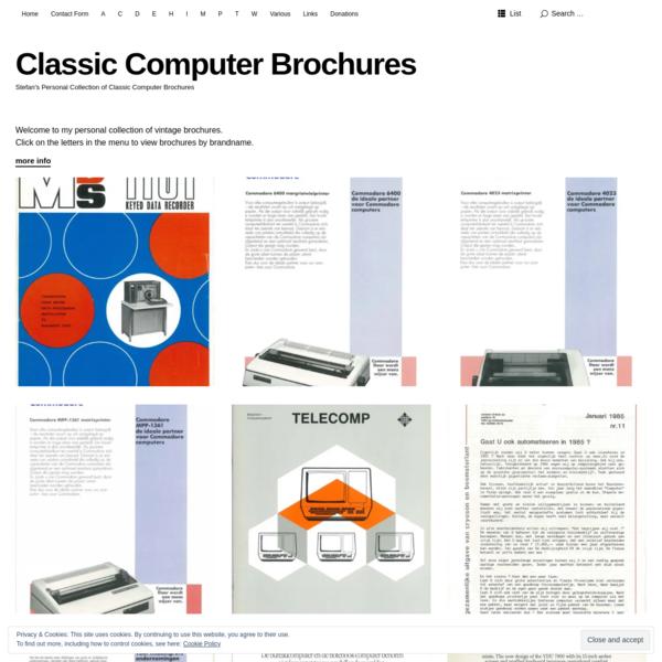 Classic Computer Brochures - Stefan's Personal Collection of Classic Computer Brochures