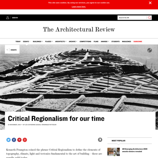 Critical Regionalism for our time
