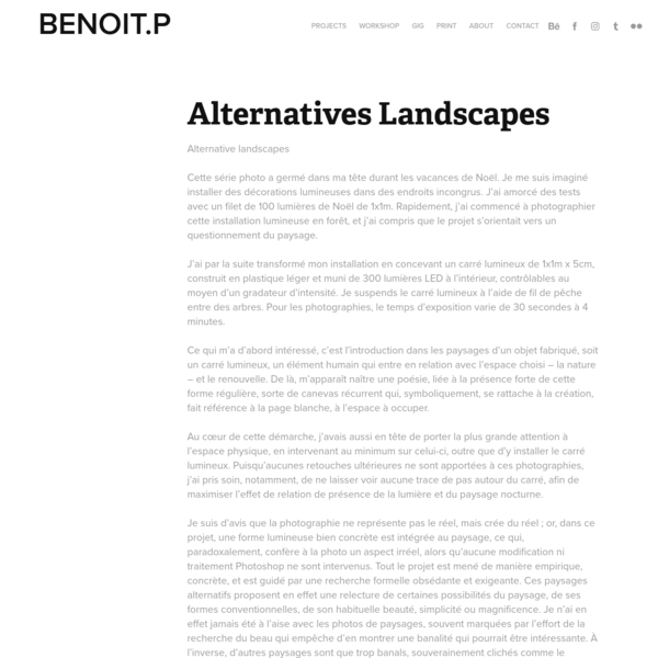 Benoit Paillé - Alternatives Landscapes