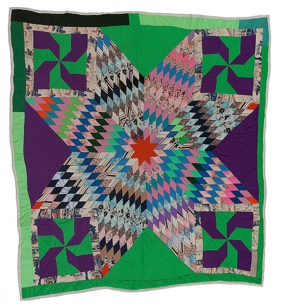 Blazing Star with Pinwheel corner blocks - Lucy T. Pettway