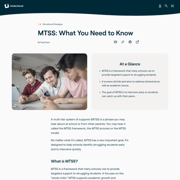 MTSS: What You Need to Know