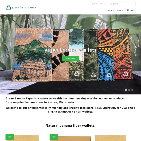 Green Banana Paper | Handmade Wallets, Business Cards, Corporate Gifts