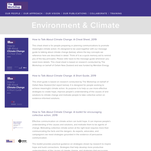 Environment & Climate - The Workshop