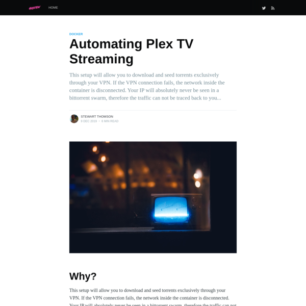 Automating Plex TV Streaming - GoStew