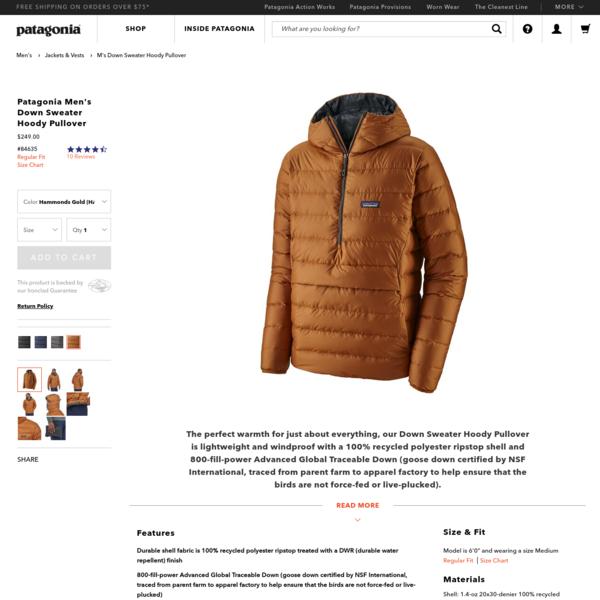 Patagonia Men's Down Sweater Hoody Pullover