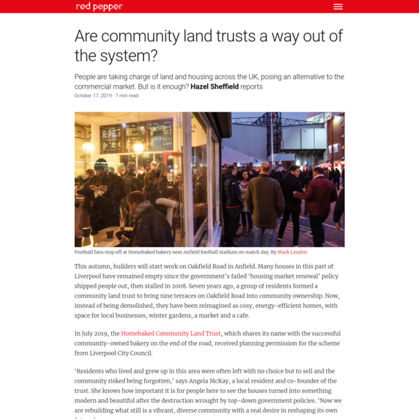 Are community land trusts a way out of the system?