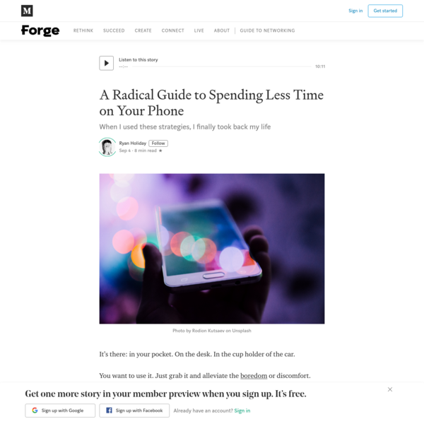 A Radical Guide to Spending Less Time on Your Phone