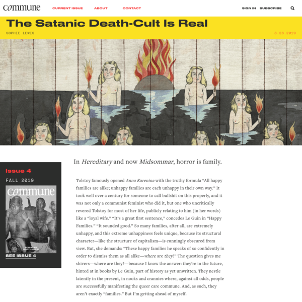 The Satanic Death-Cult Is Real | Sophie Lewis