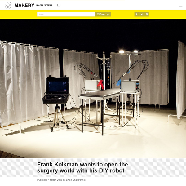 Frank Kolkman wants to open the surgery world with his DIY robot