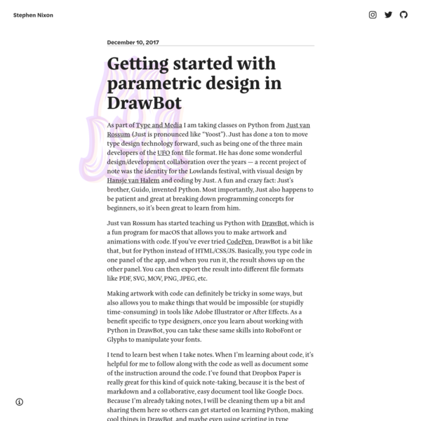 Getting started with parametric design in DrawBot