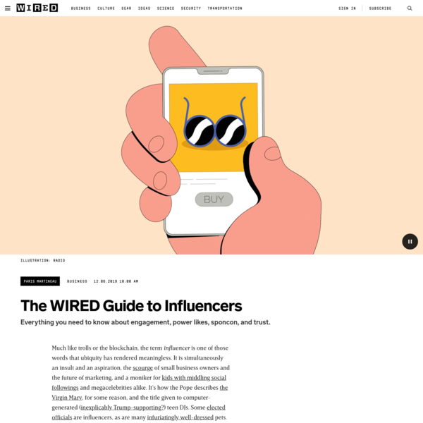 The WIRED Guide to Influencers
