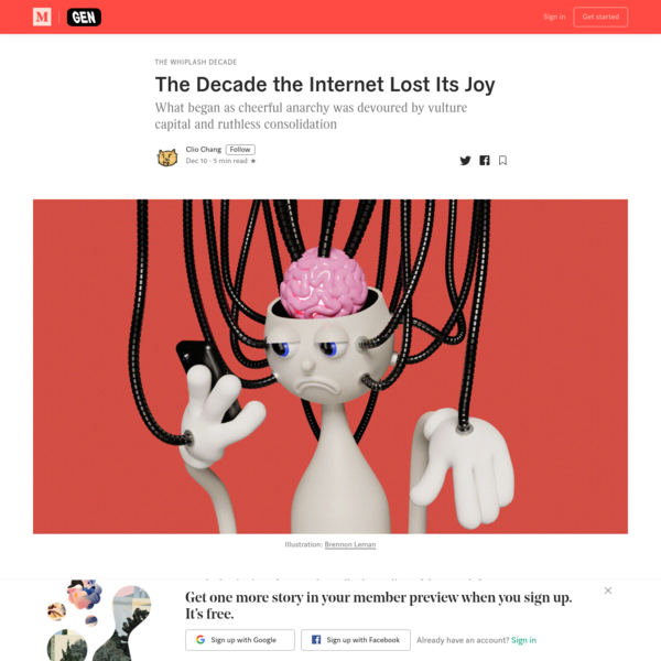 The Decade the Internet Lost Its Joy