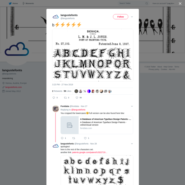 langustefonts on Twitter