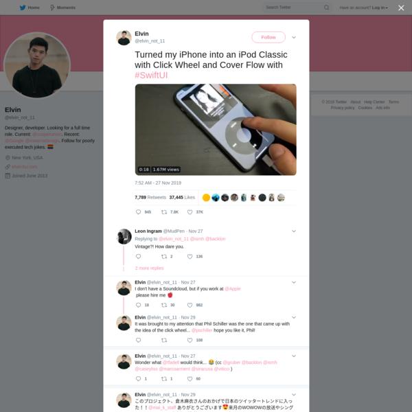 Elvin on Twitter