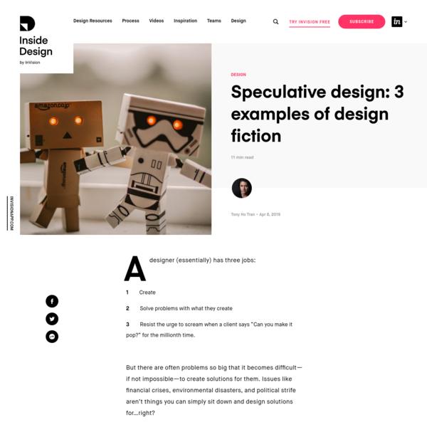 Speculative design: 3 examples of design fiction   Inside Design Blog