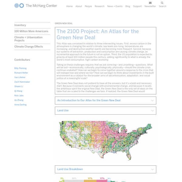 The 2100 Project: An Atlas for the Green New Deal