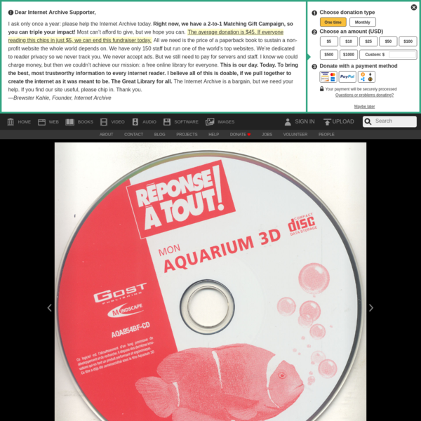 PC Aquarium Deluxe v3.0 (Win98SE)(2007)(Eng) : Free Download, Borrow, and Streaming : Internet Archive