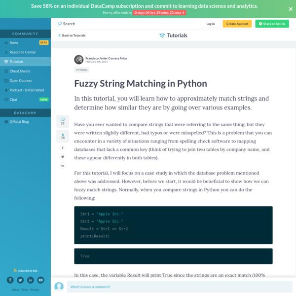Fuzzy String Matching in Python