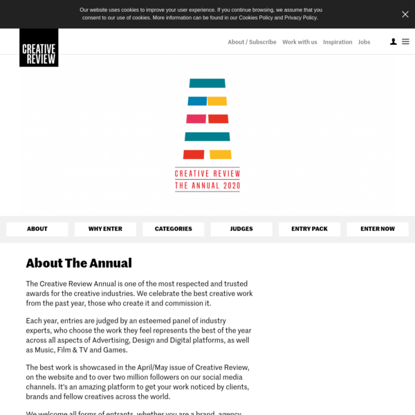 The Annual - celebrating the best creative work from the past year