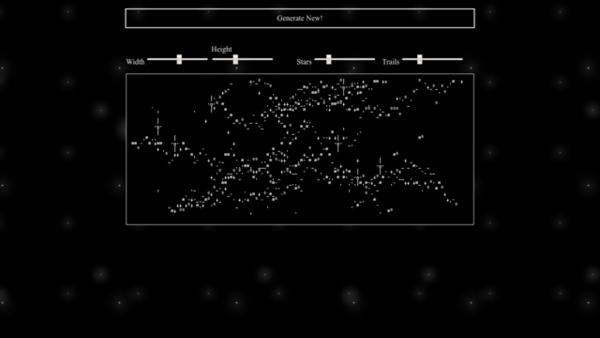ASCII Galaxy Generator