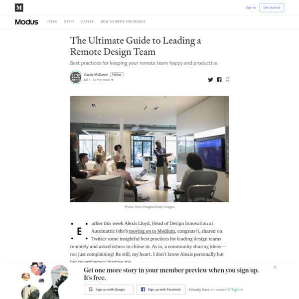 The Ultimate Guide to Leading a Remote Design Team