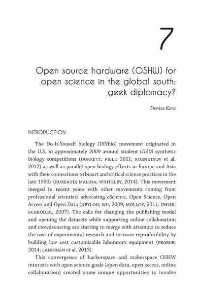 Denise Kera's Chapter on OSHW & geek diplomacy