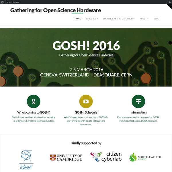 Gathering For Open Science Hardware | Just Another OpenPlant Sites Site