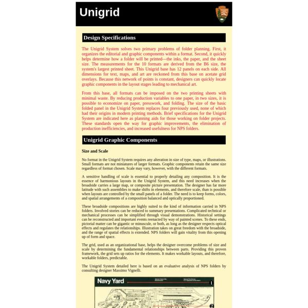 National Park Service: Brochures (Unigrid)