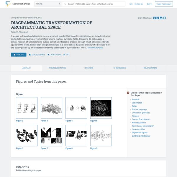 [PDF] DIAGRAMMATIC TRANSFORMATION OF ARCHITECTURAL SPACE | Semantic Scholar