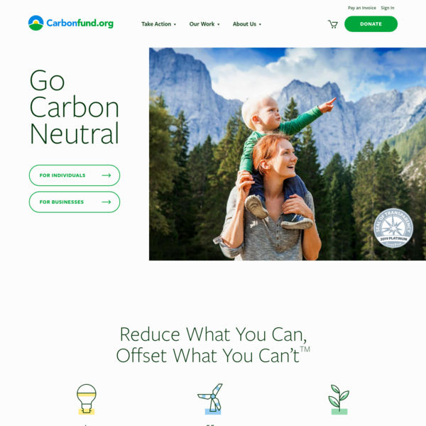 Carbon Neutrality for Individuals and Businesses - Carbonfund.org