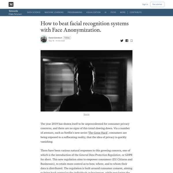 How to beat facial recognition systems with Face Anonymization.
