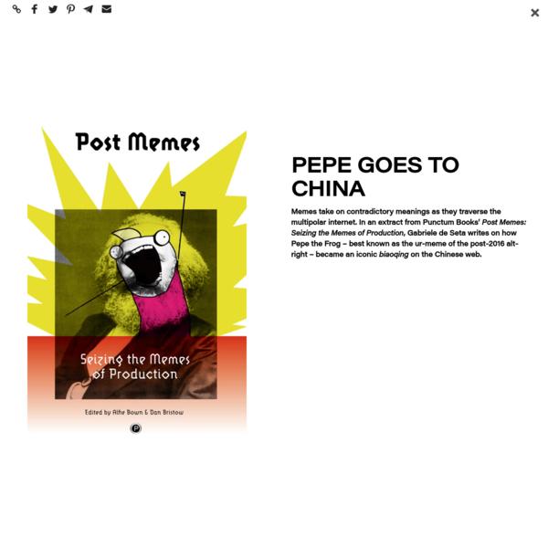 Pepe Goes to China / TANK
