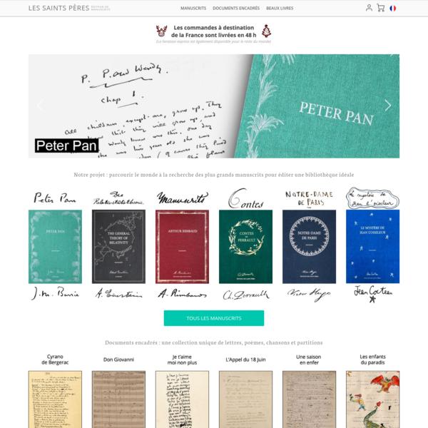 Manuscrits et tableaux manuscrits - Les Saints Pères