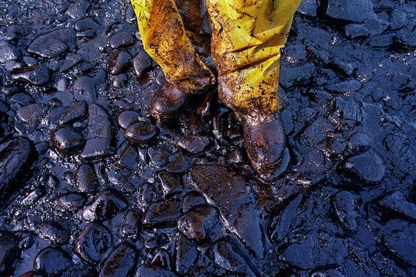 The Exxon Valdez oil tanker spill March 24, 1989