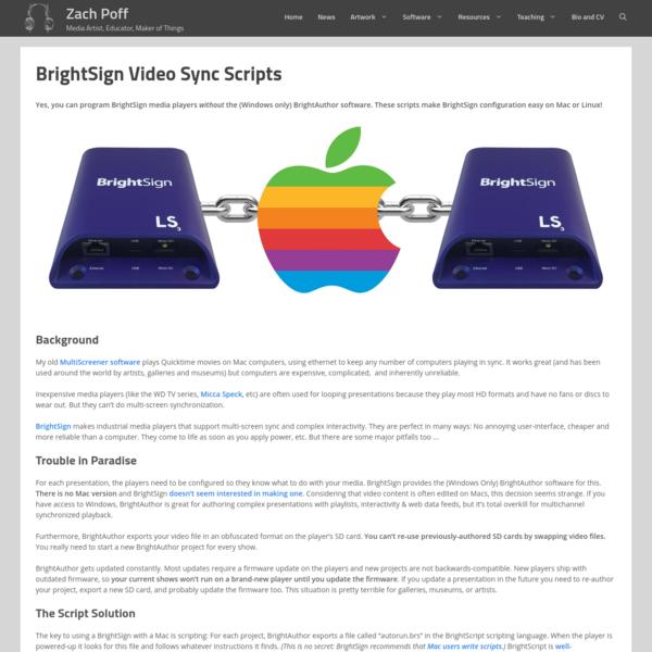 BrightSign Video Sync Scripts