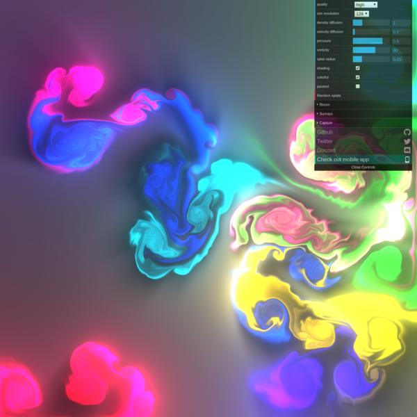 Webgl Fluid Simulation