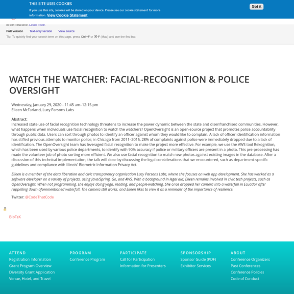 Watch the Watcher: Facial-Recognition & Police Oversight