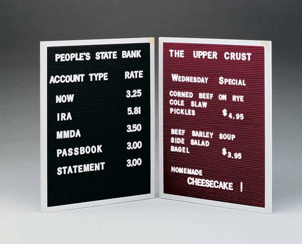 "Ghent Changeable Letterboard - 24"" x 18"""