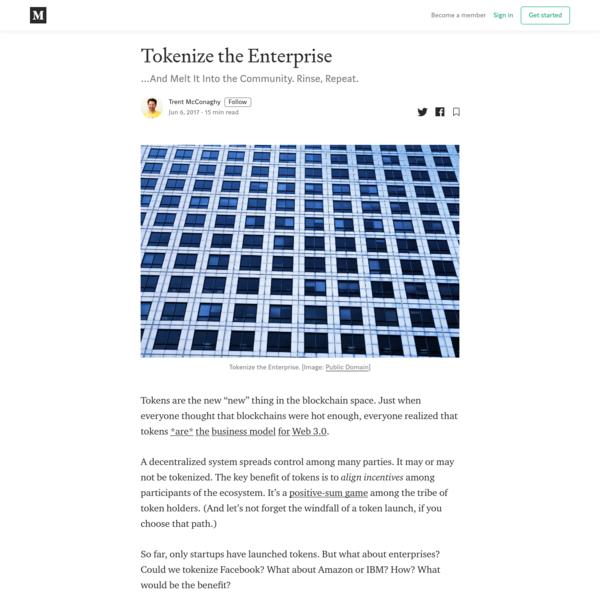 Tokenize the Enterprise