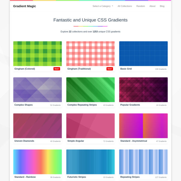Gradient Magic - Fantastic and Unique CSS Gradients