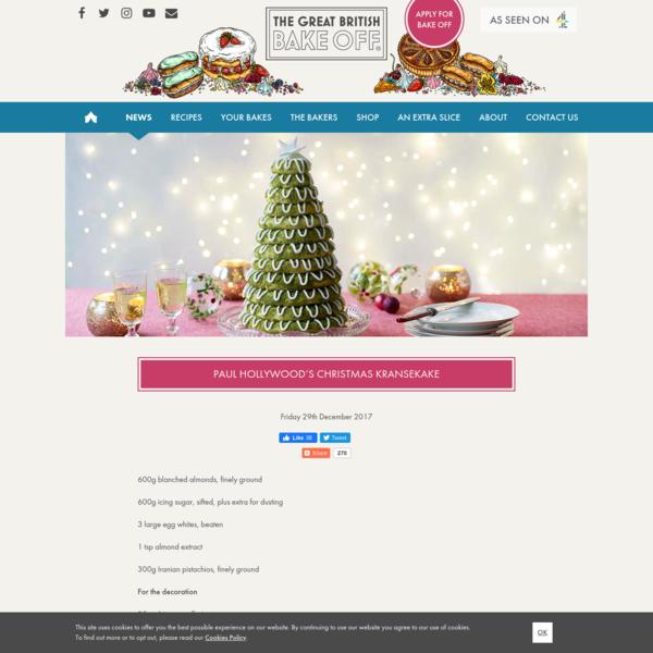 Paul Hollywood's Christmas Kransekake | The Great British Bake Off