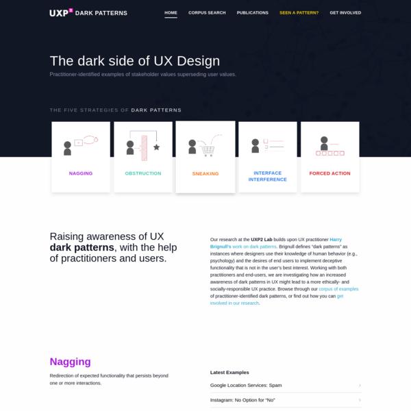 Home - UXP2: Dark Patterns