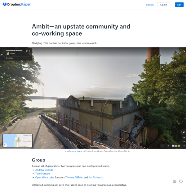Ambit-an upstate community and co-working space