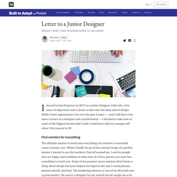 Letter to a Junior Designer