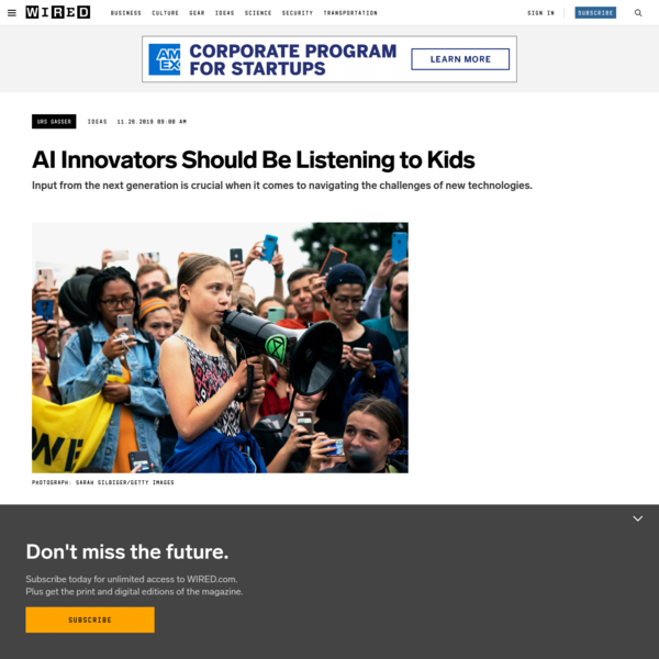 AI Innovators Should Be Listening to Kids