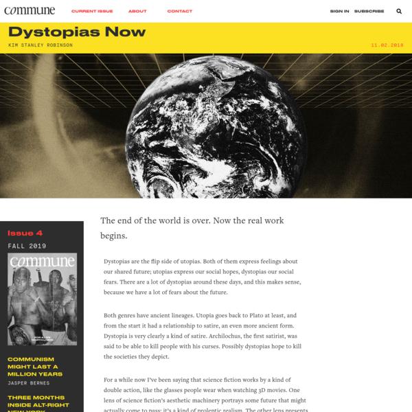 Dystopias Now   Kim Stanley Robinson