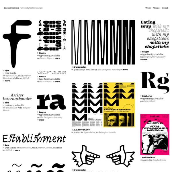 Lucas Descroix | type & graphic design