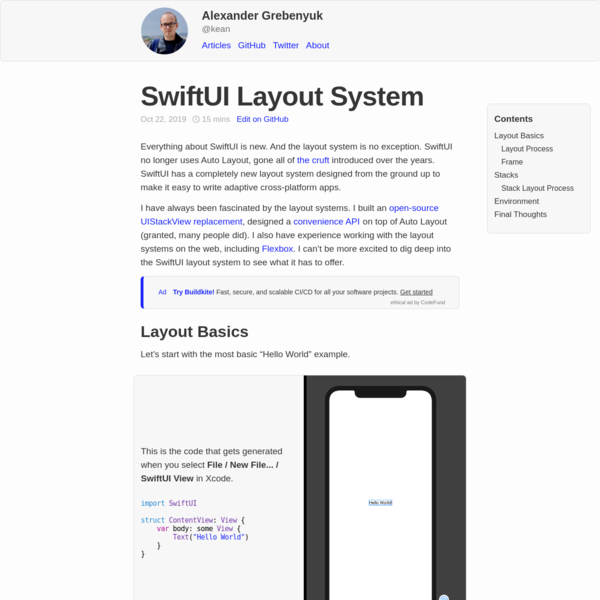 SwiftUI Layout System